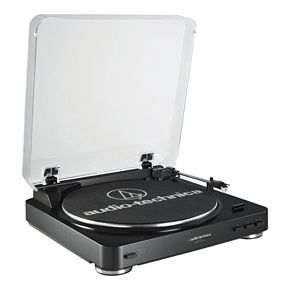 Audio-Technica Fully Automatic Belt-Drive Stereo Turntable (AT-LP60BK)