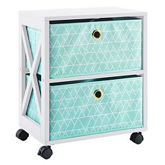 Simple By Design 2-Drawer Rolling Storage Tower