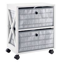 Simple by Design 2-Drawer Rolling Storage Tower (Multiple Colors)
