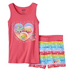Girls 4-10 Shopkins Ice Cream Kate, Linda Layered Cake & Rainbow Bite 'Piece of Cake' Tank Top & Shorts Pajama Set