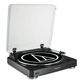 Audio-Technica Fully Automatic Belt-Drive Stereo Turntable (AT-LP60BK-USB)