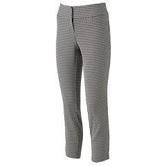 Women's Studio 253 Geometric Ankle Dress Pants