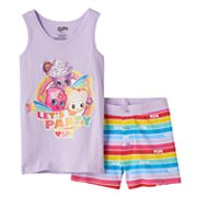 Girls 4-10 Shopkins D'Lish Donut, Creamy Cookie Cupcake & Fairy Crumbs 'Let's Party' Tank Top & Shorts Pajama Set