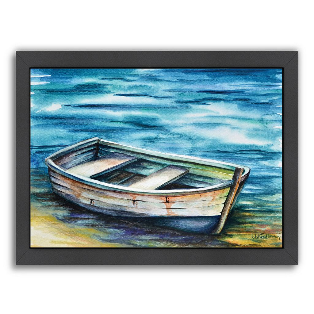 Americanflat Beached Rowboat Framed Wall Art