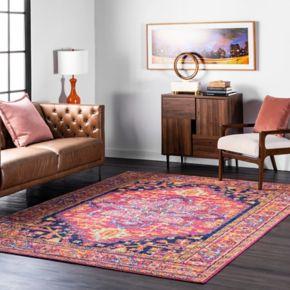 nuLOOM Bodrum Fancy Persian Vonda Framed Floral Rug