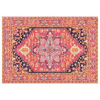 nuLOOM Bodrum Fancy Persian Vonda Framed Floral Rug