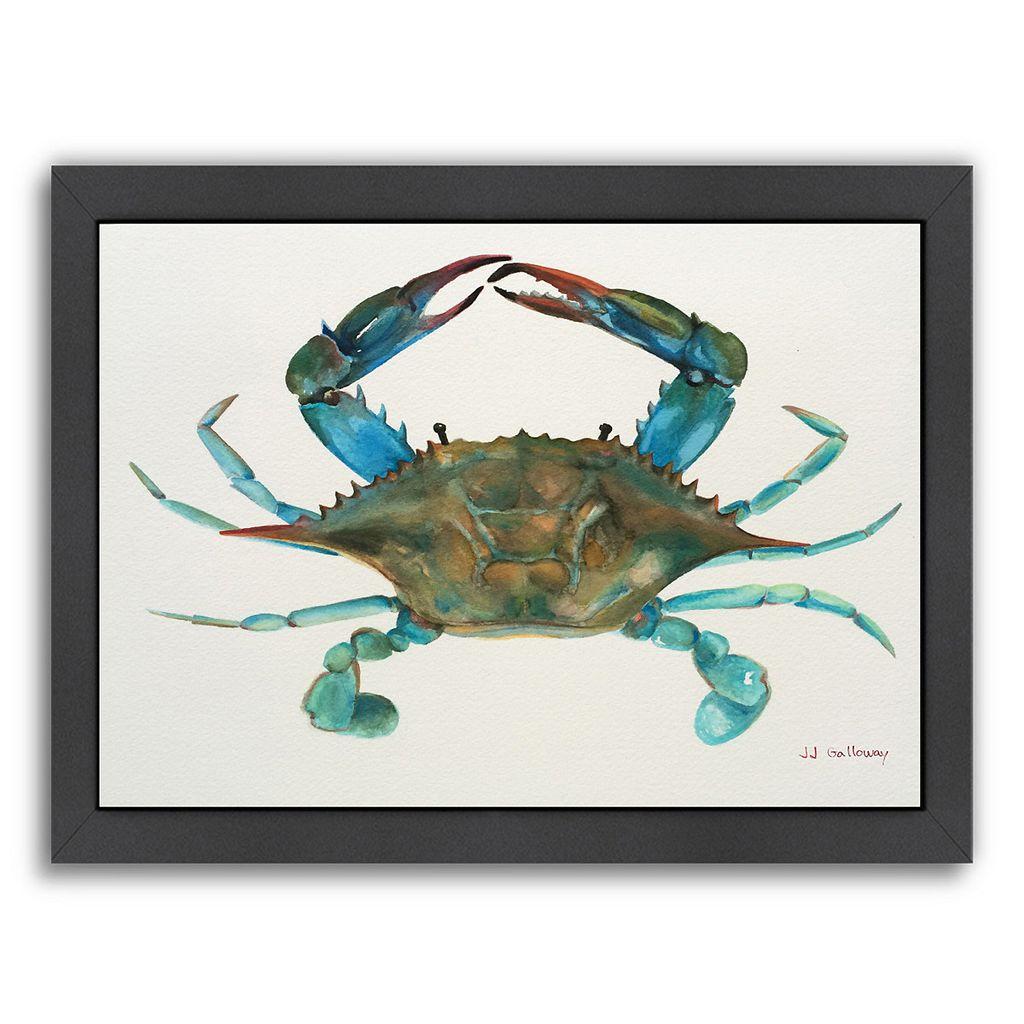 Americanflat Blue Crab Framed Wall Art