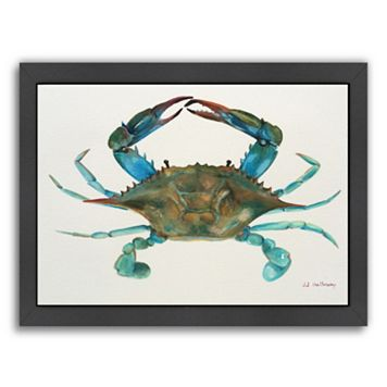 Americanflat Blue Crab Framed Wall Art