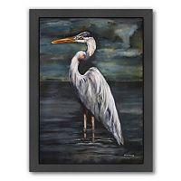 Americanflat Blue Heron At Dusk Framed Wall Art