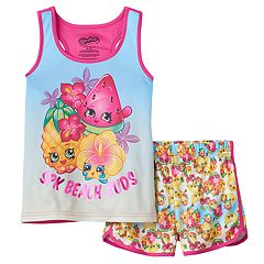 Girls 4-12 Shopkins Pineapple Crush, Melonie Pips & Heidi Hibiscus 'SPK Beach Buds' Tank Top & Shorts Pajama Set