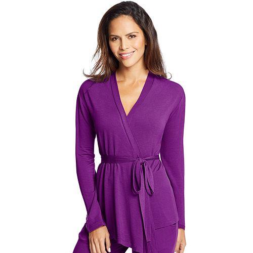 Women's Maidenform Pajamas: French Terry Wrap Cardigan