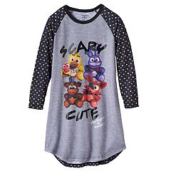 Girls 6-14 Five Nights at Freddy's 'Scary Cute' Raglan Nightgown