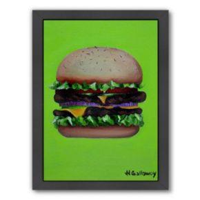 Americanflat Hamburger Deluxe Framed Wall Art