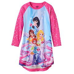 Girls 4-12 Splashlings Raglan Nightgown