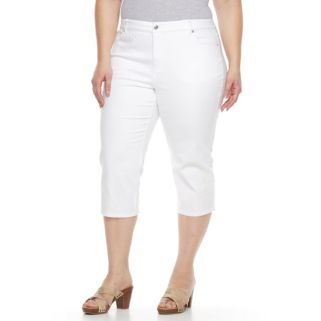 Plus Size Gloria Vanderbilt Margie Embroidered Capri Jeans