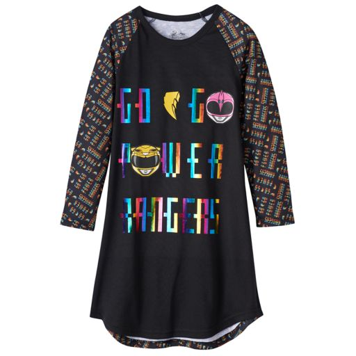 "Girls 4-12 Power Ranger ""Go Go Power Rangers"" Nightgown"