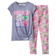 "Girls 4-12 Sneaky Wedge & Jodie Glow Sticks ""Hip Hop Don't Stop"" Tunic & Leggings Pajama Set"