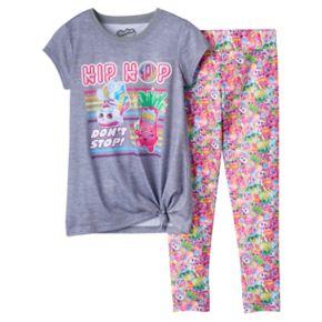 """Girls 4-12 Sneaky Wedge & Jodie Glow Sticks """"Hip Hop Don't Stop"""" Tunic & Leggings Pajama Set"""