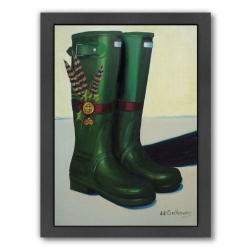 Americanflat Holiday Wellies Framed Wall Art