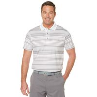 Big & Tall Grand Slam Classic-Fit Striped Airflow Golf Polo