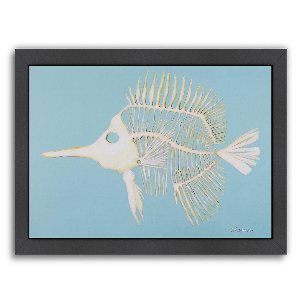 Americanflat Longnosed Butterfly Fish Bones Framed Wall Art