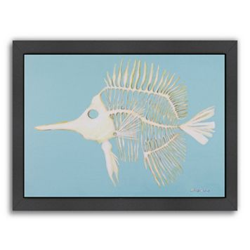 Americanflat Longnosed Butterfly Fish Bones Framed Wall Art