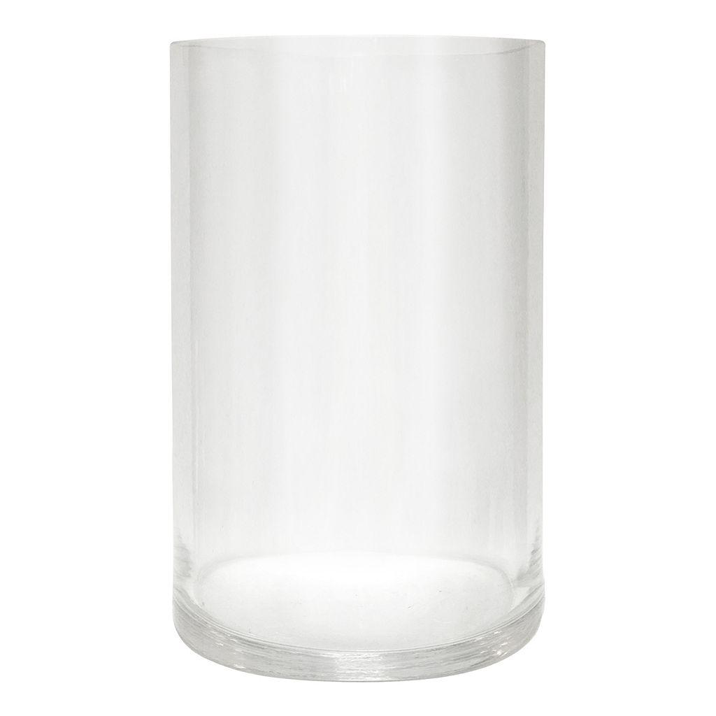 Large Glass Hurricane Candle Holder
