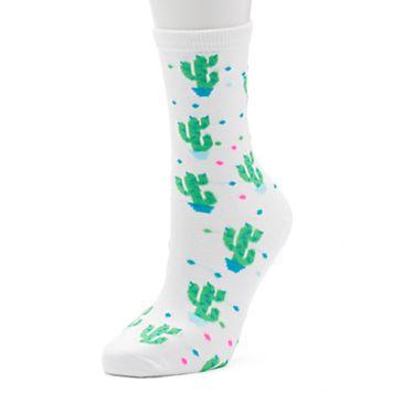 Women's Cactus Crew Socks