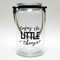 'Enjoy The Little Things' Glass Jar Table Decor