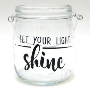 """Let Your Light Shine"" Glass Jar Table Decor"