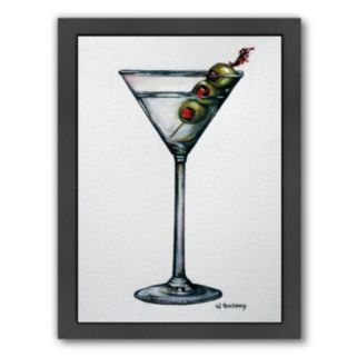 Americanflat Martini Framed Wall Art