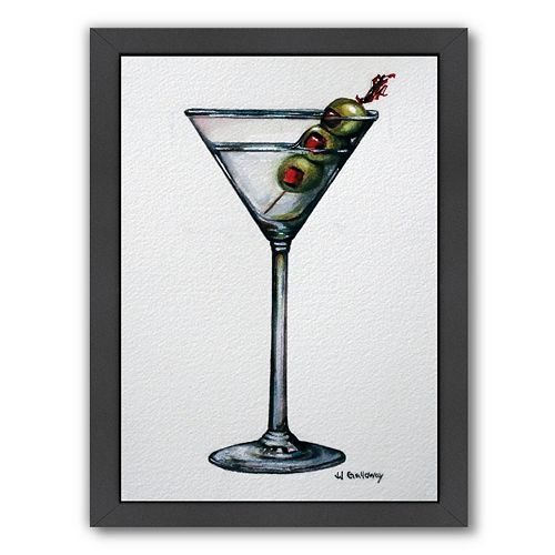 Americanflat Martini Framed Wall Art