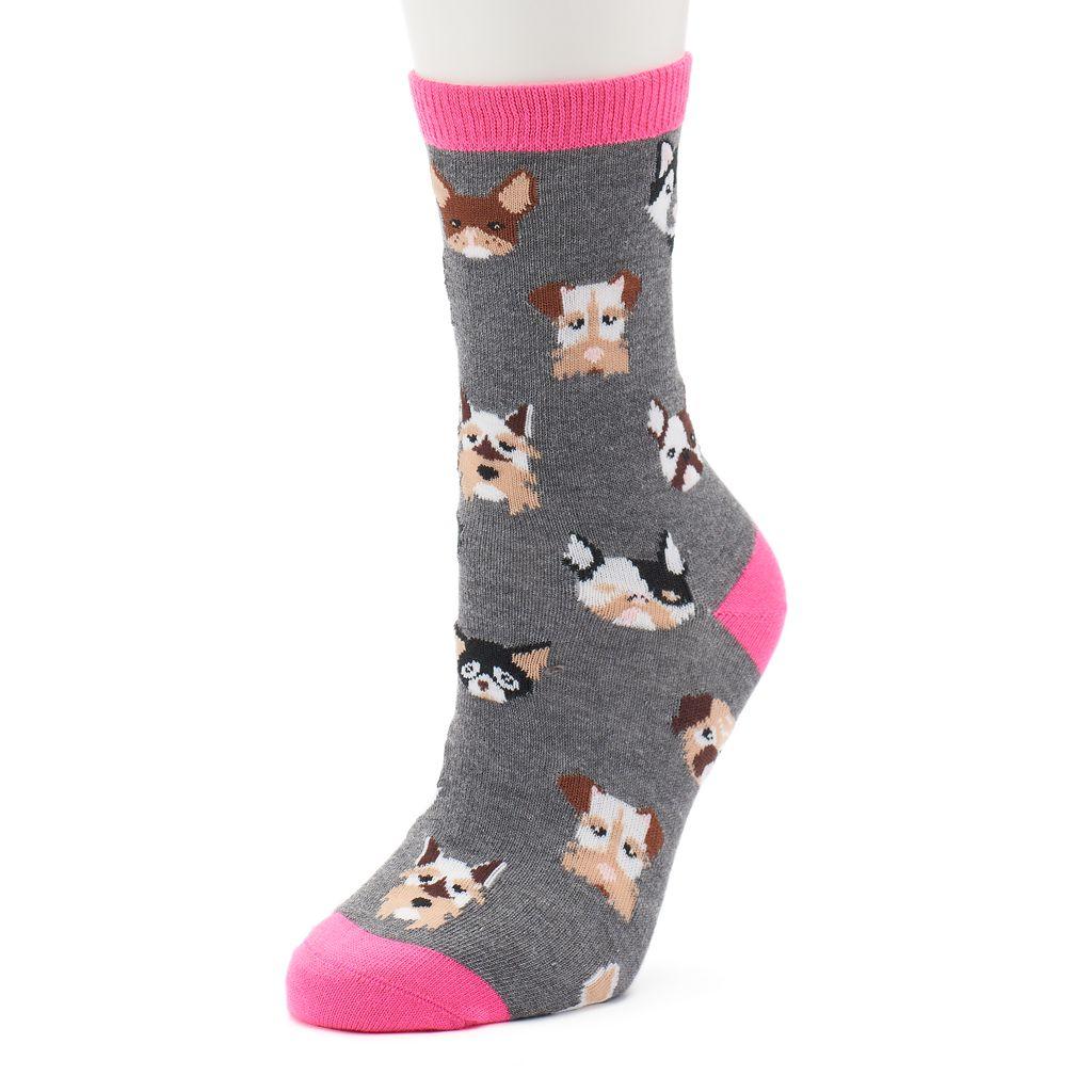 Women's Dog Crew Socks