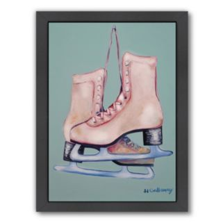 Americanflat My Old Skates Framed Wall Art