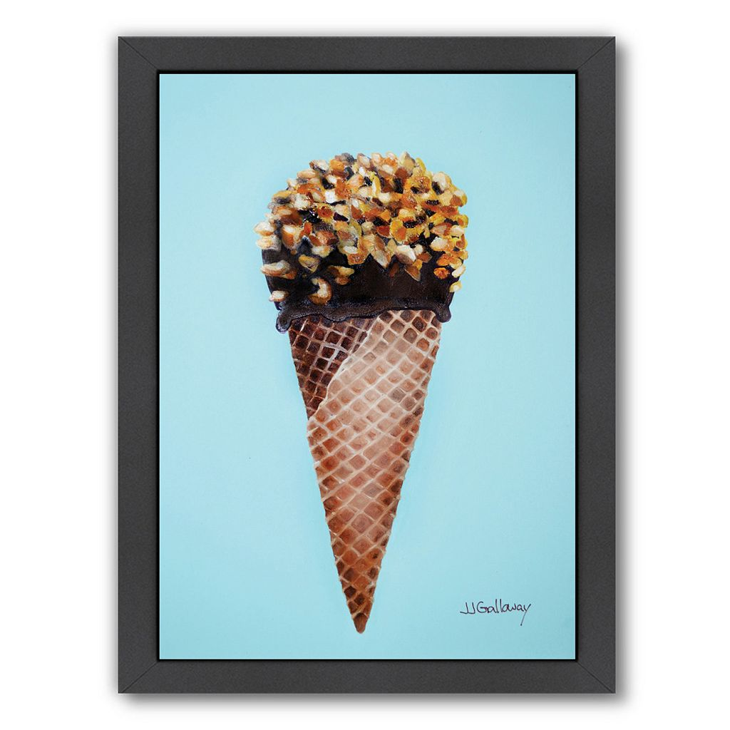Americanflat Nutty Ice Cream Cone Framed Wall Art