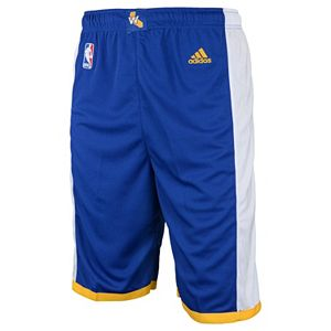 Toddler adidas Golden State Warriors Road Replica Shorts