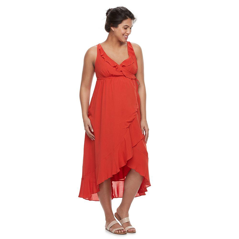 Aglow ruffle faux wrap dress maternity aglow ruffle faux wrap dress ombrellifo Image collections