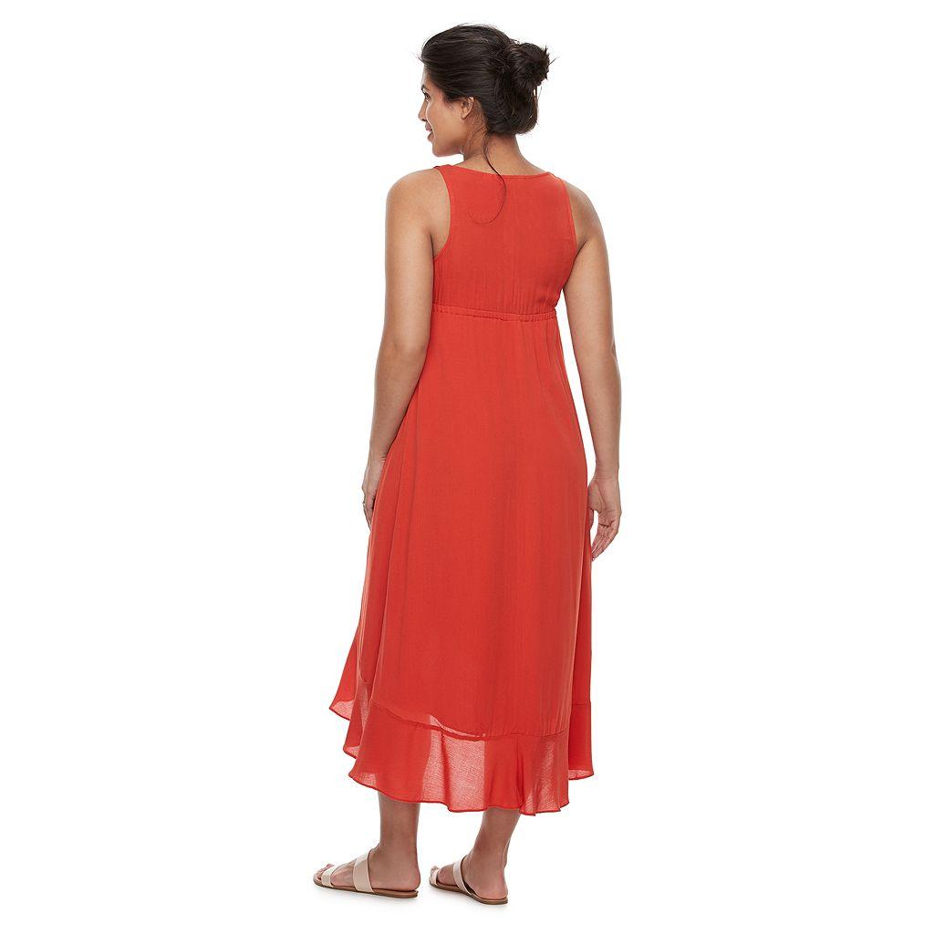 Maternity a:glow Ruffle Faux-Wrap Dress