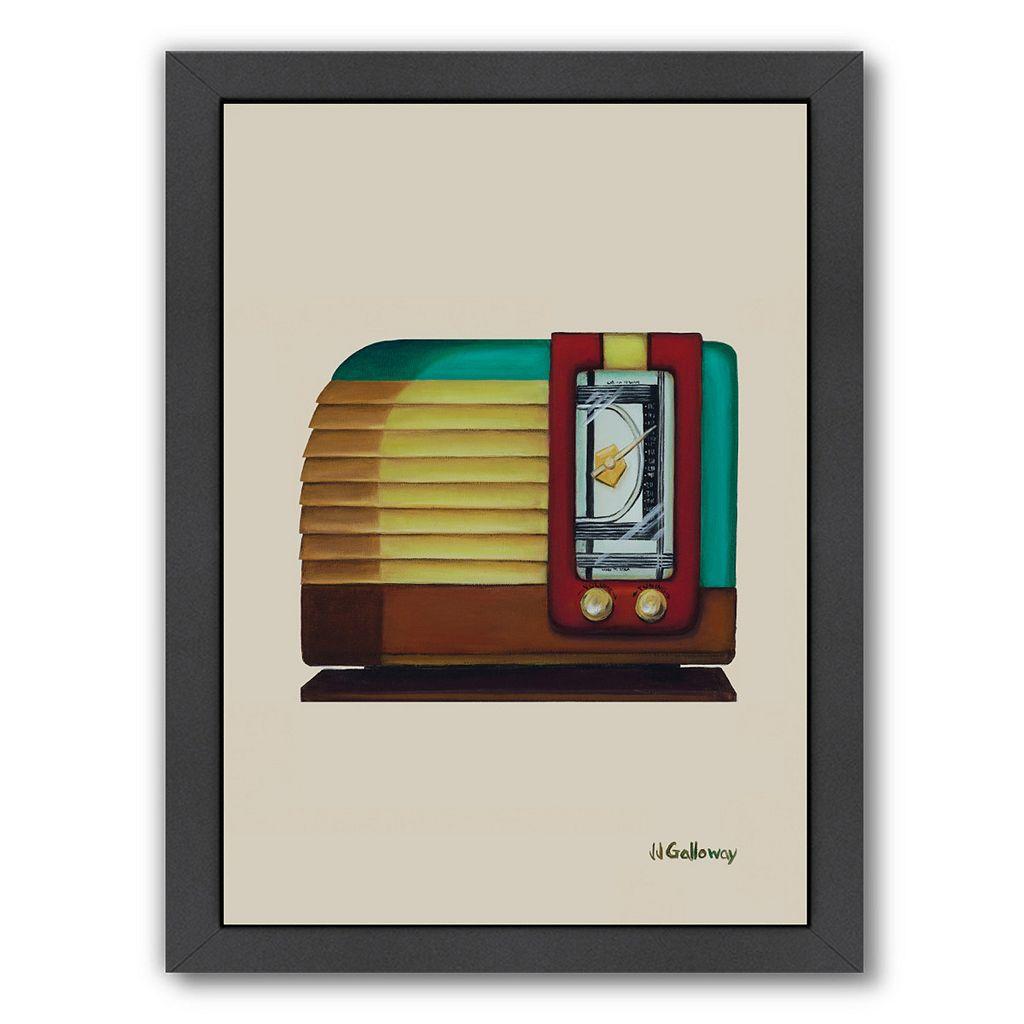 Americanflat Old Fashion Radio Framed Wall Art