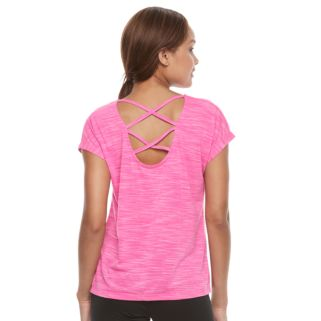 Petite Tek Gear® Short Sleeve Cross Back Tee