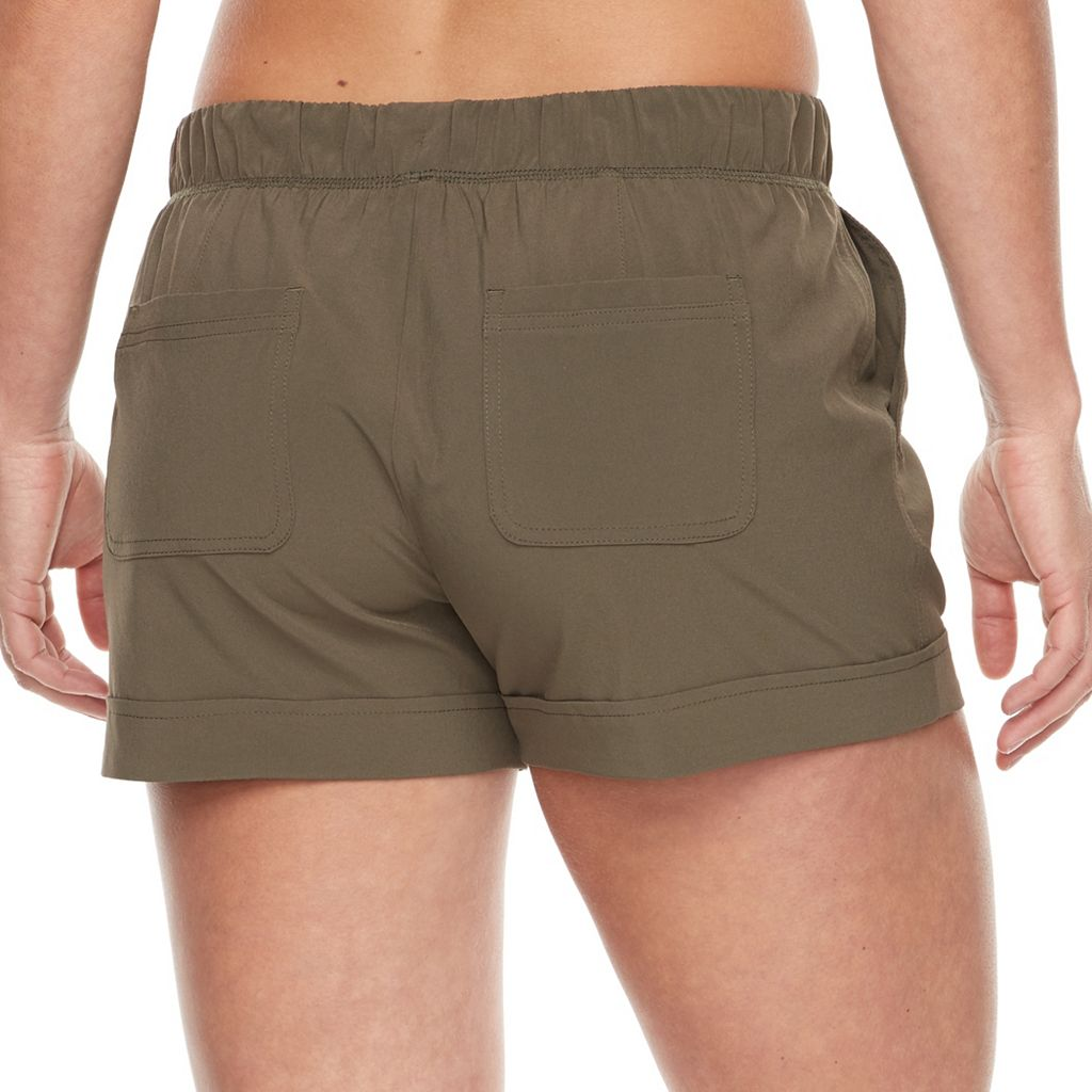 Petite Tek Gear® Woven Beach Shorts
