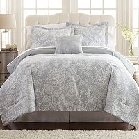 Olivia Printed Reversible Comforter Set