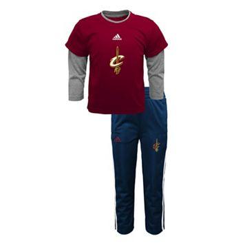 Baby adidas Cleveland Cavaliers Free Throw Tee & Pants Set
