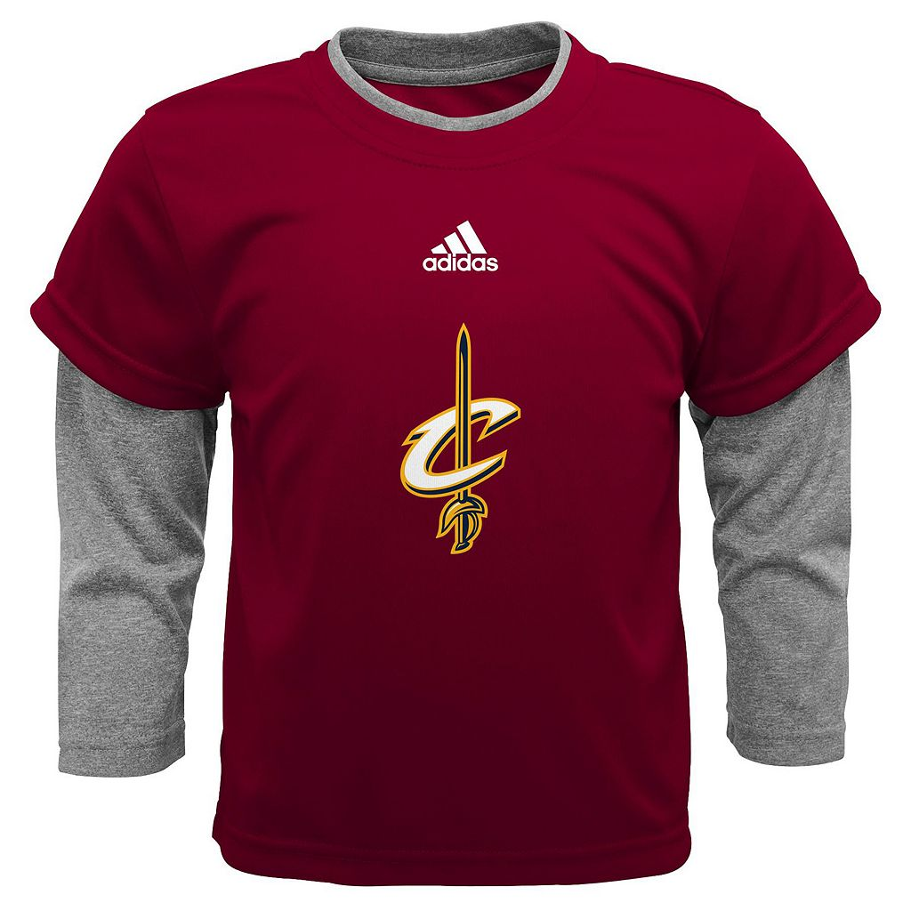 Baby adidas Cleveland Cavaliers Free Throw Tee & Pants Set