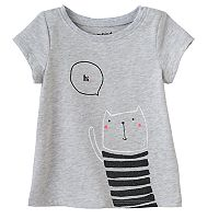Baby Girl Jumping Beans® Glittery Animal Graphic Tee