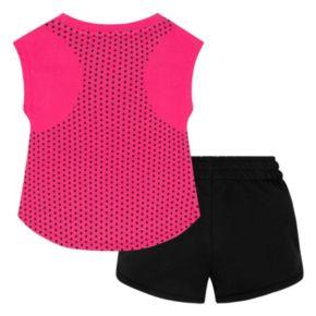 """Toddler Girl Nike """"Just Do It"""" Graphic Tee & Logo Shorts Set"""