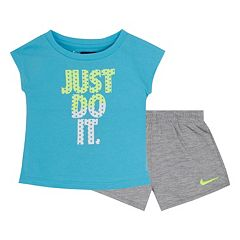 Toddler Girl Nike 'Just Do It' Graphic Tee & Logo Shorts Set