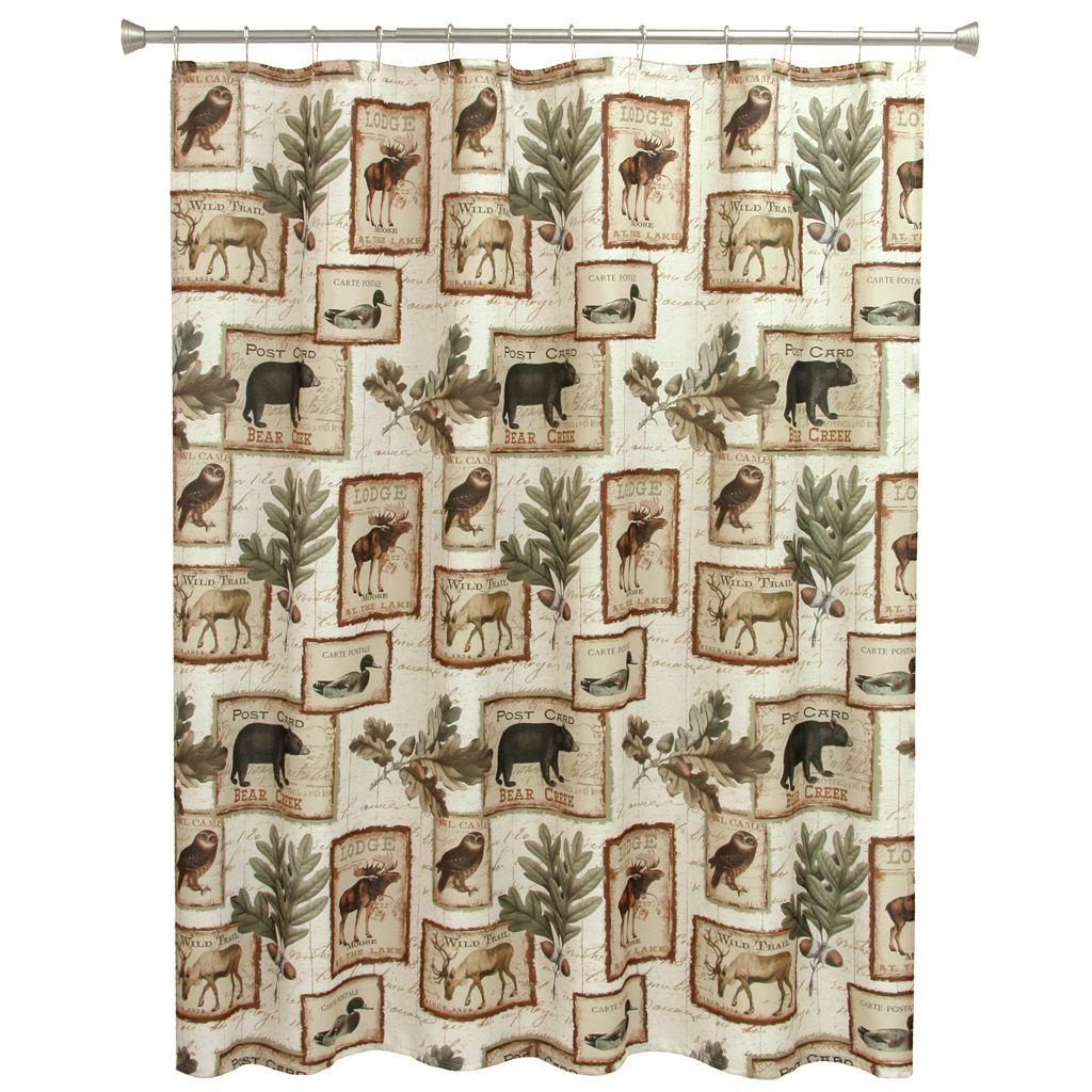 Bacova Lodge Memories Shower Curtain