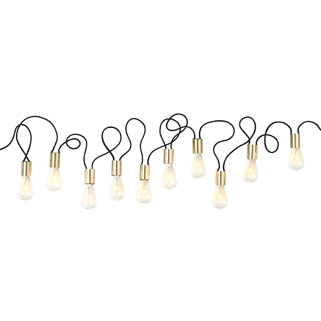 Simple By Design 10-Light Edison Bulb String Lights