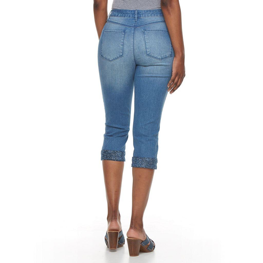 Women's Gloria Vanderbilt Jordyn Embellished Capri Jeans